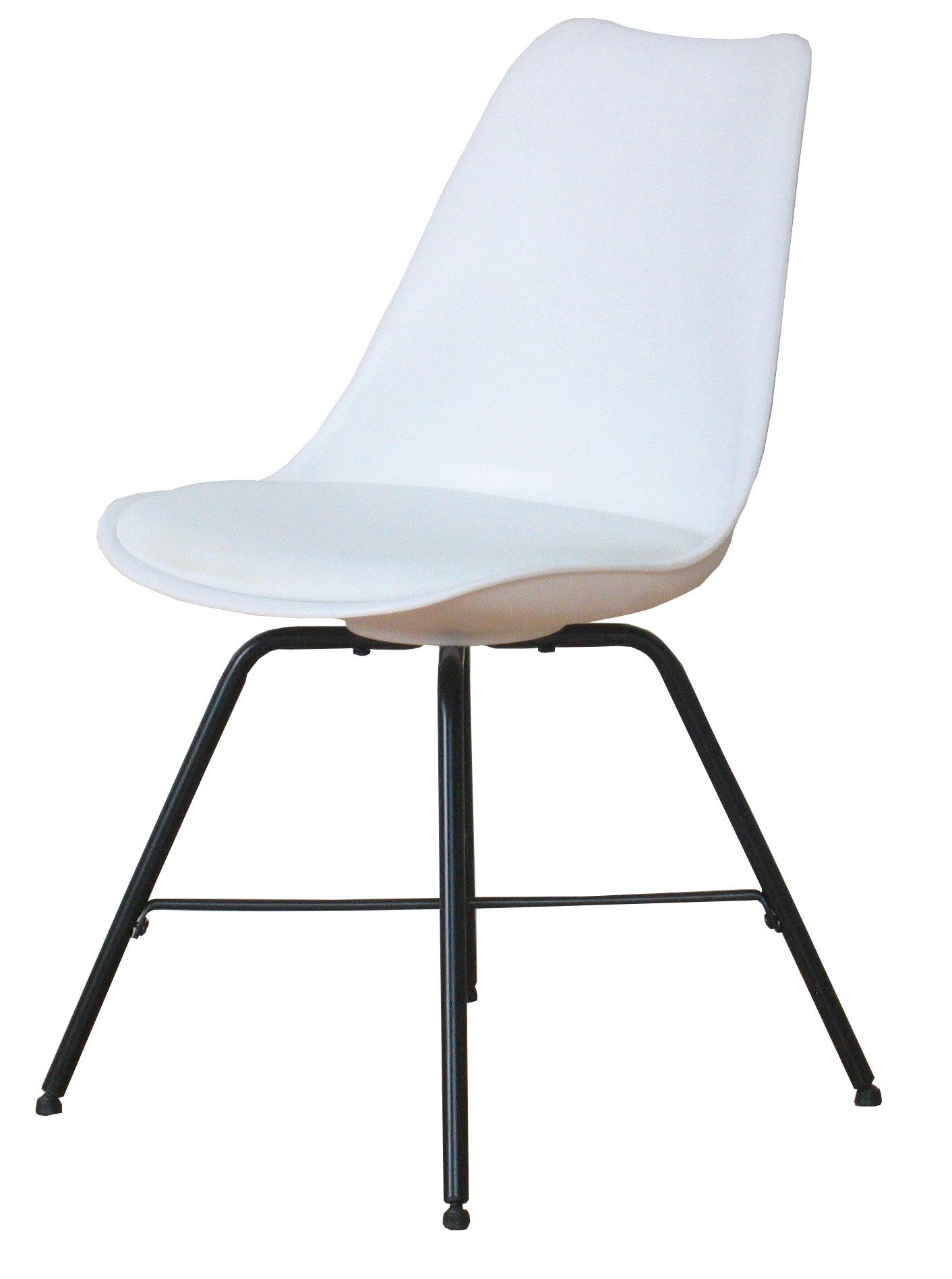 4 x esszimmerst hle niko retro stuhl sitz gruppe wei ebay. Black Bedroom Furniture Sets. Home Design Ideas