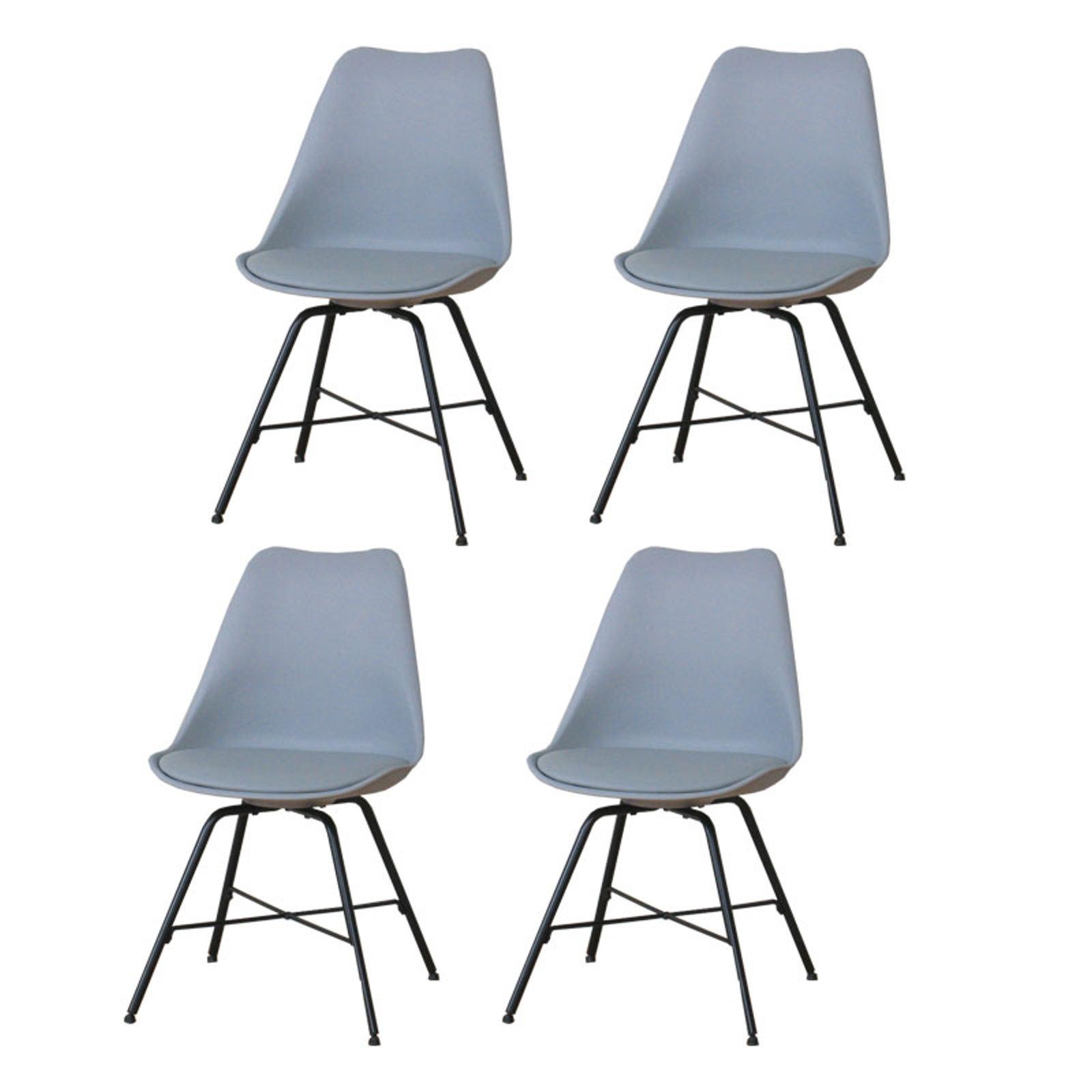 4 x chaises de salle manger niko r tro chaise si ge for Chaise de salle a manger trackid sp 006