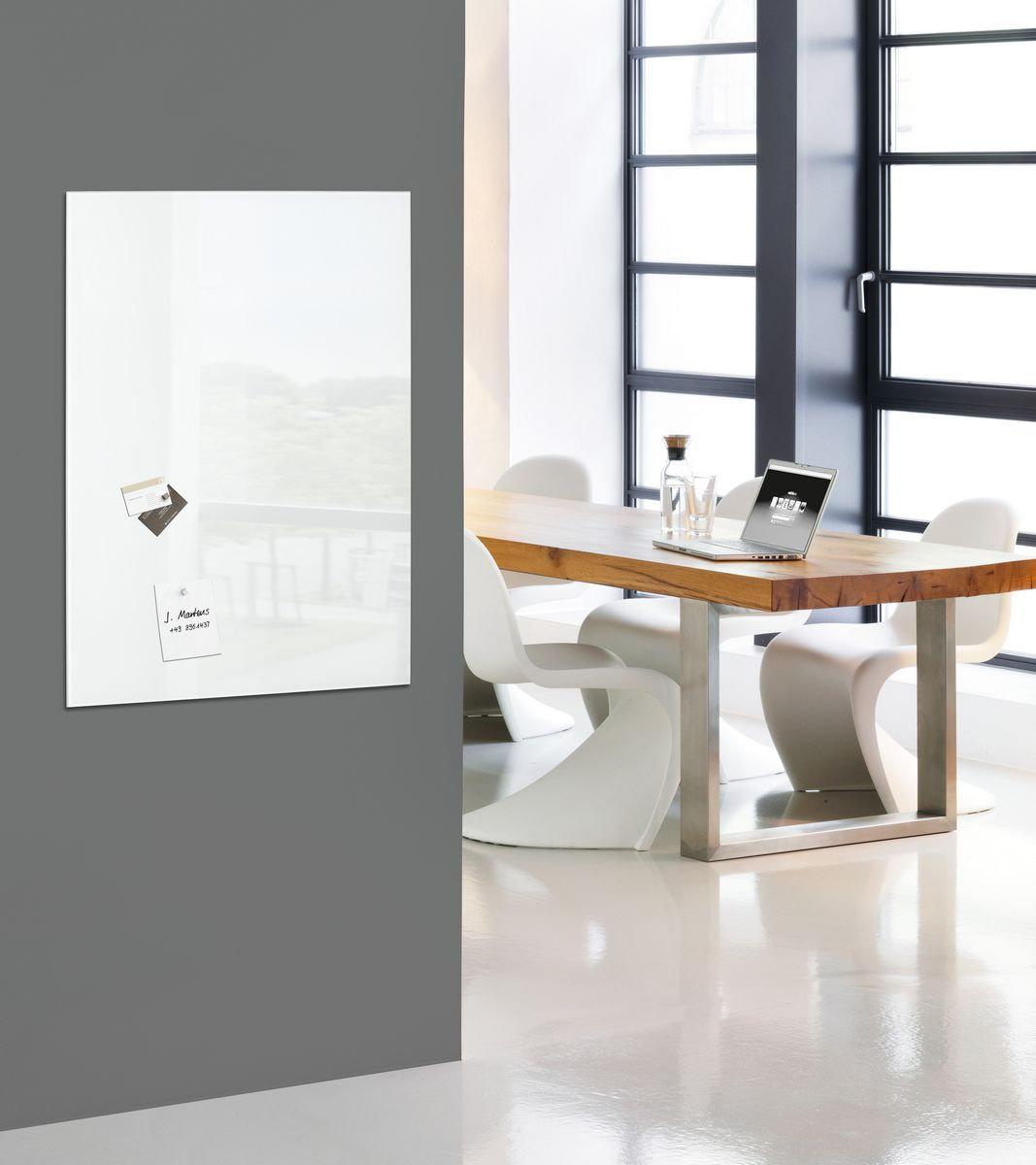 sigel glas magnetboard artverum 100x65 magnettafel magnet board tafel wandboard business. Black Bedroom Furniture Sets. Home Design Ideas