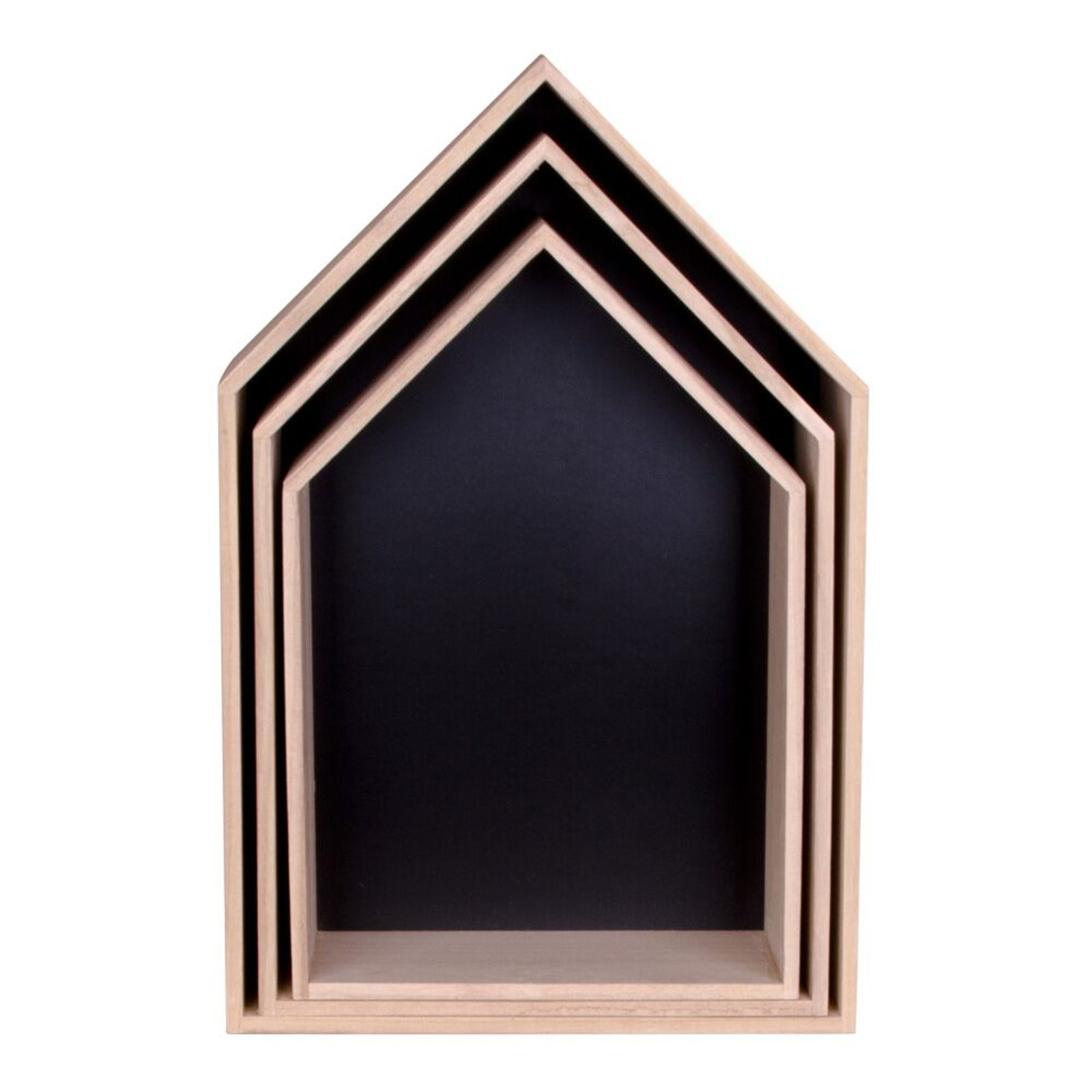 pkline regal vice 3tlg aus holz b cherregal wandregal holzregal m bel wohnen schr nke vitrinen. Black Bedroom Furniture Sets. Home Design Ideas