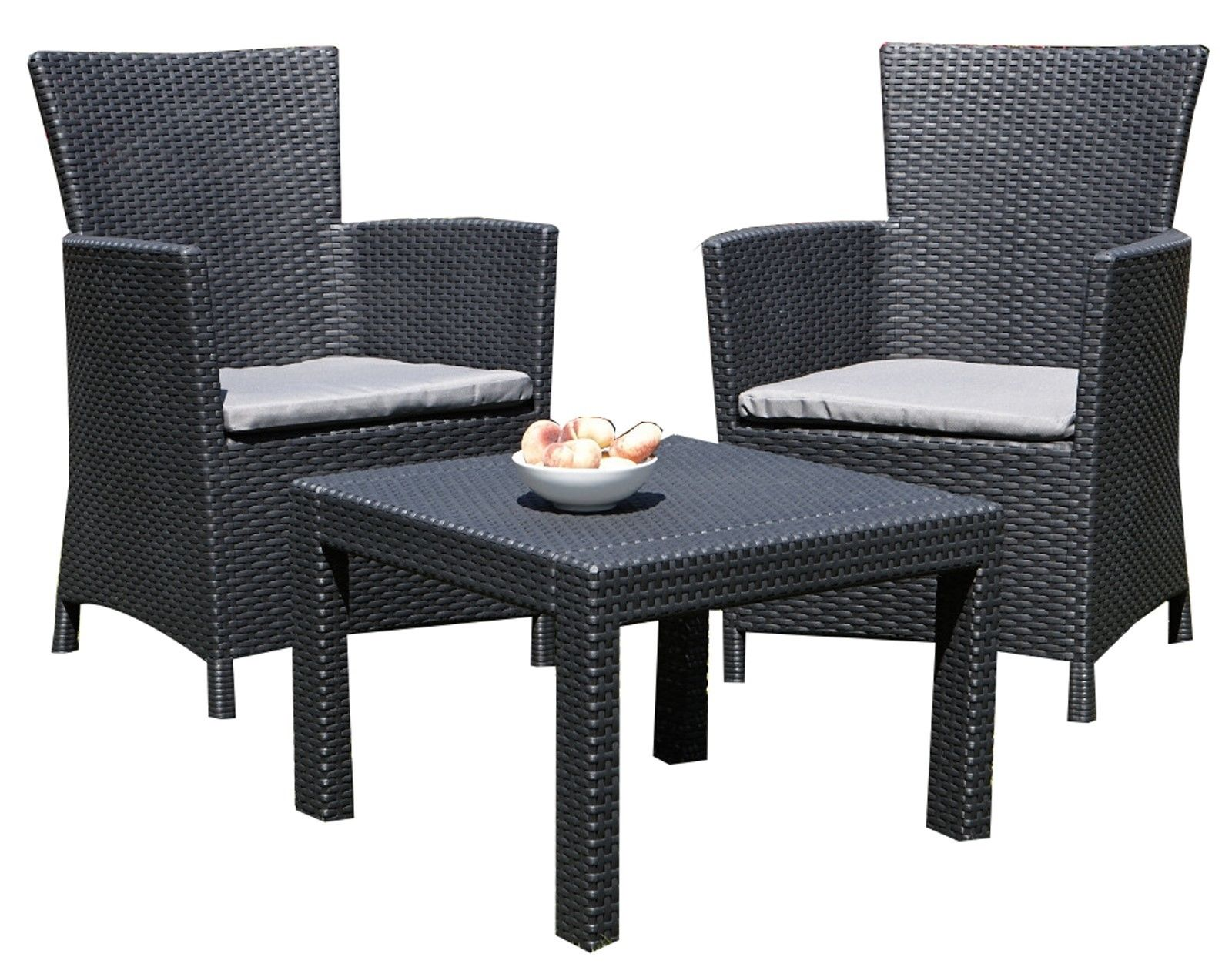 3tlg rattan lounge sitzgruppe miami garnitur gartenm bel essgruppe sessel set ebay. Black Bedroom Furniture Sets. Home Design Ideas