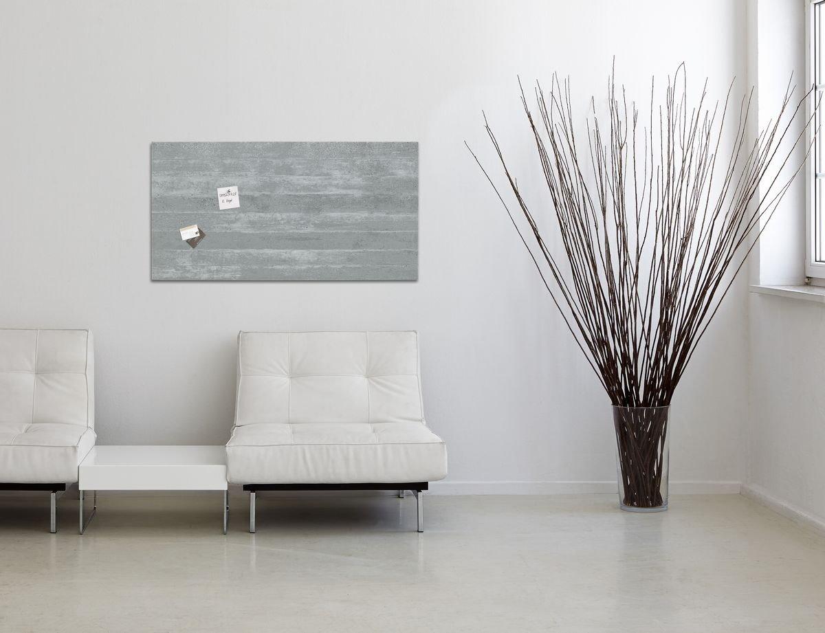 sigel glas magnetboard artverum 91x46 whiteboard magnet wand tafel memoboard m bel wohnen. Black Bedroom Furniture Sets. Home Design Ideas
