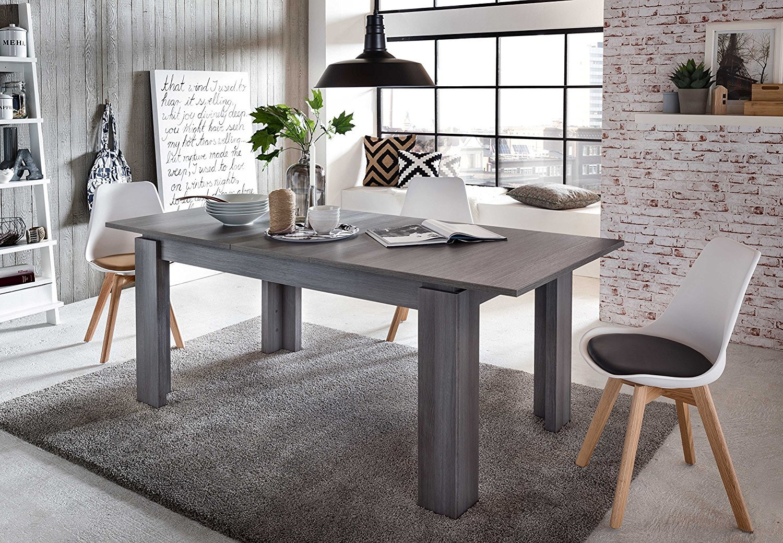 tisch universal rauchsilber esstisch ausziehbar k chentisch esszimmer ebay. Black Bedroom Furniture Sets. Home Design Ideas