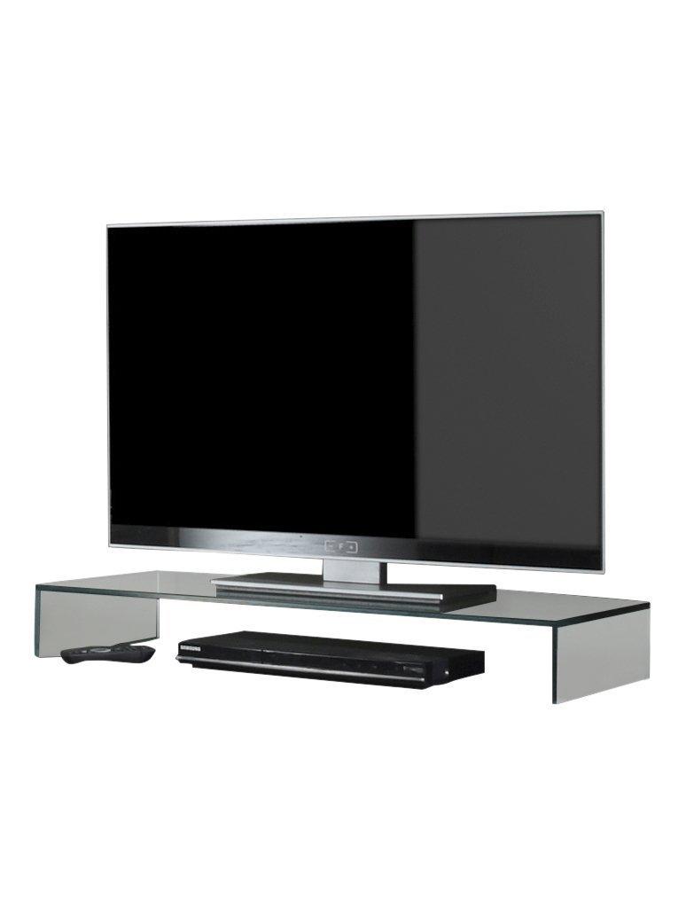glas tv hifi b hne aufsatz podest lowboard sideboard. Black Bedroom Furniture Sets. Home Design Ideas