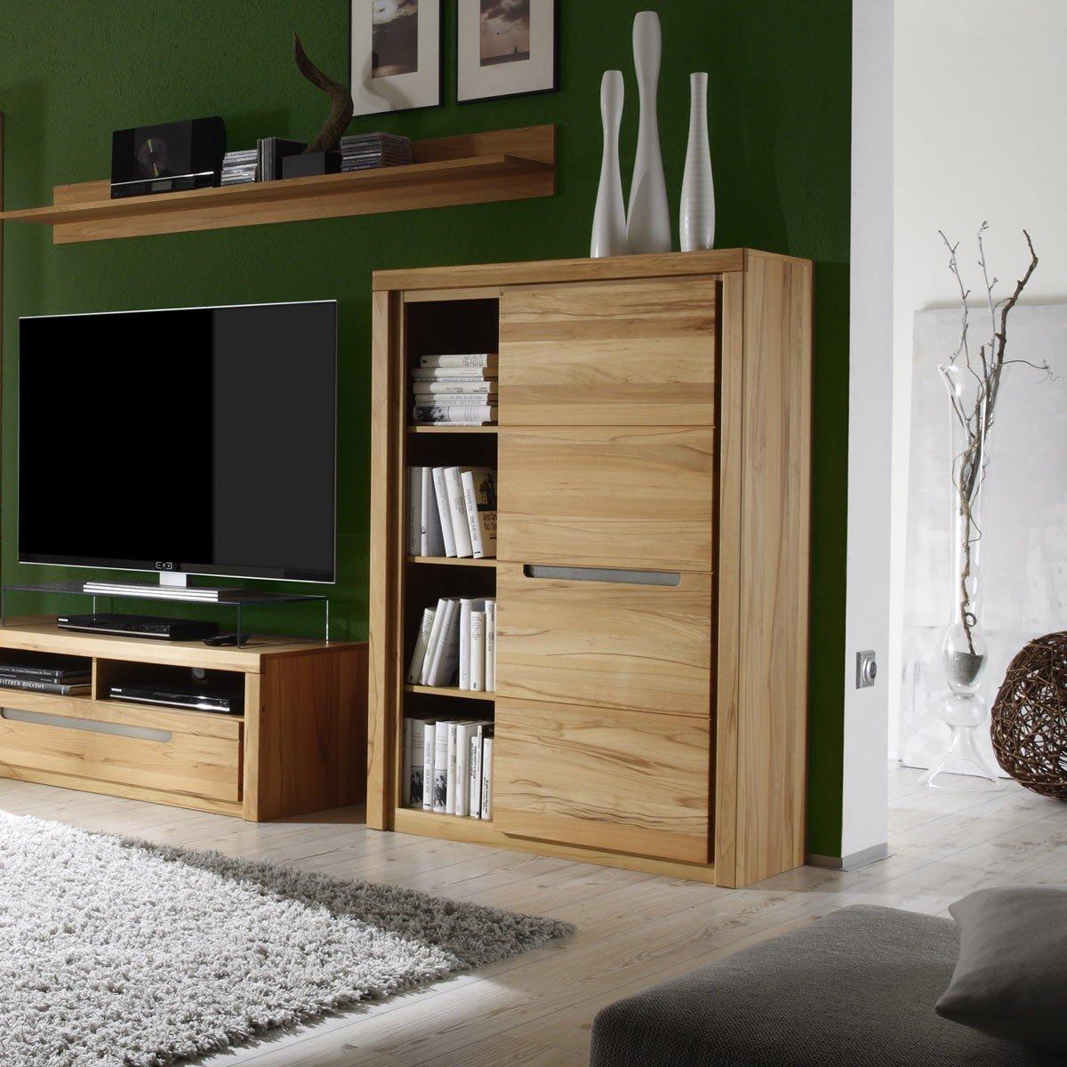kommode zino kernbuche massiv highboard sideboard wohnzimmer schrank anrichte m bel wohnen. Black Bedroom Furniture Sets. Home Design Ideas