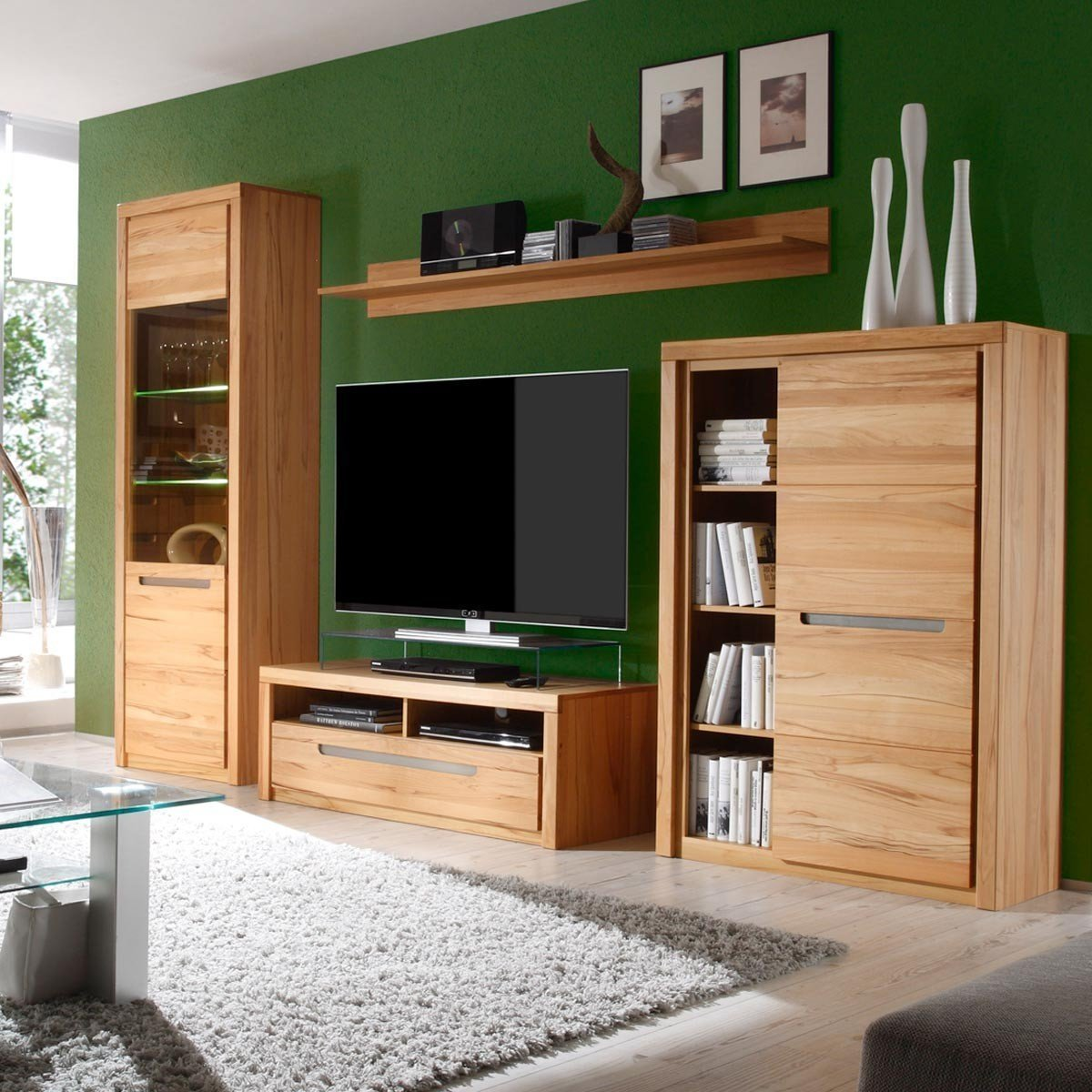 kommode zino kernbuche massiv highboard sideboard wohnzimmer schrank anrichte ebay. Black Bedroom Furniture Sets. Home Design Ideas