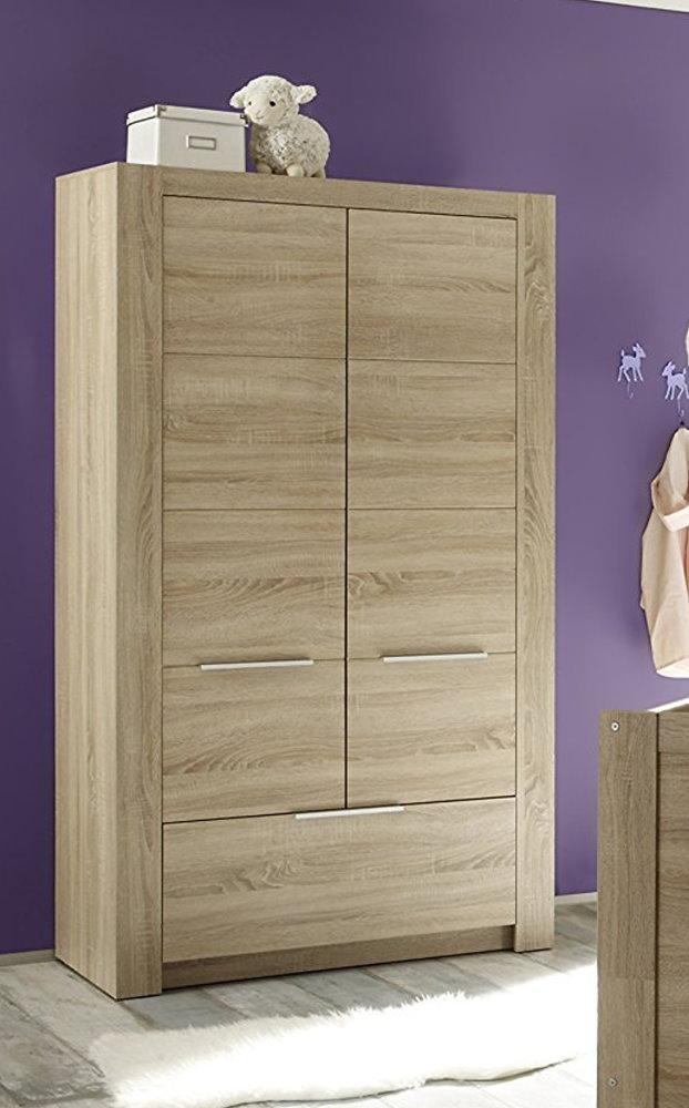 Kleiderschrank Carlotta Eiche Sonoma hell Kinder Baby Zimmer Schrank ...